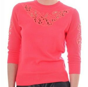 Ted Baker Bright Pink Talula Embroidered Sweater